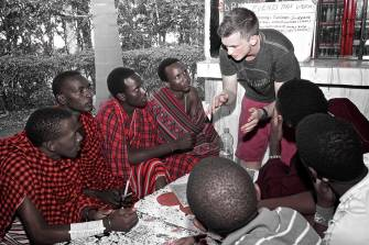 Volunteer in vocational training in Africa